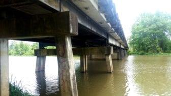 Bull Mountain Creek Bridge on Highway 25 in Monroe County