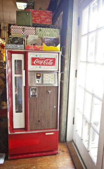 The Little Big Store in Raymond features nostalgic items like this vintage Coca-Cola machine as well as record and cassette players.