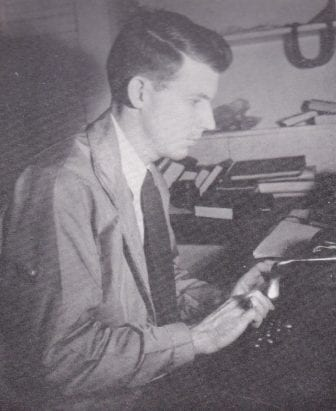 William Winter as a student journalist at Ole Miss