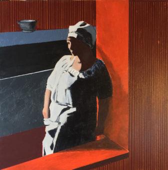 """After Work"" by Martha Ferris is acrylic on board"