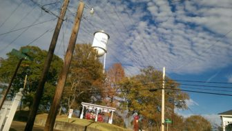 A view of the Aberdeen water tower.