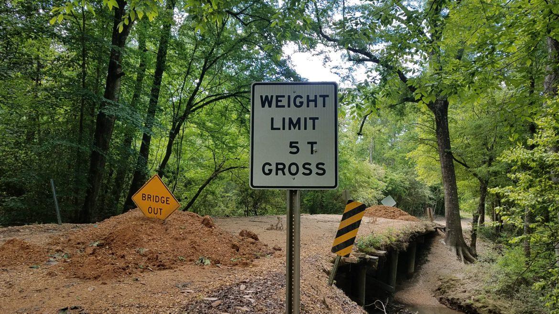 Amite County bridge closed
