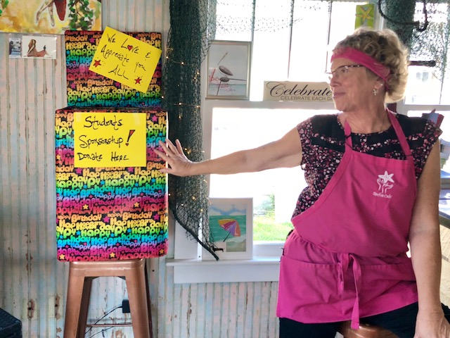 """Starfish Cafe owner Diana """"Di"""" Fillhart appreciates donations towards her students' tuition."""