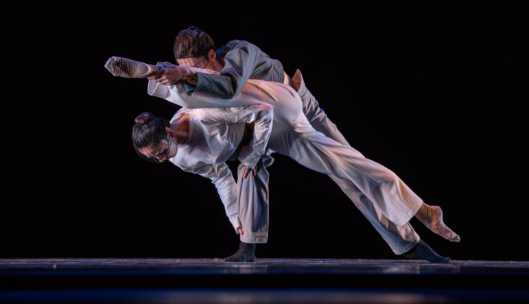 two ballet dancers competing in IBC