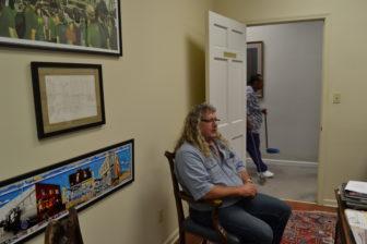 Stephen Wilkinson in Bill Luckett's Clarksdale office