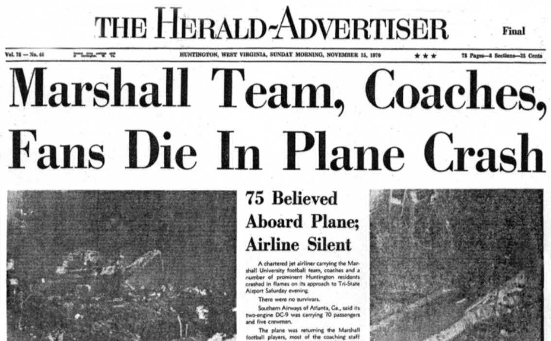 Marshall Plane Crash Still Resonates 50 Years Later Especially At Mississippi State